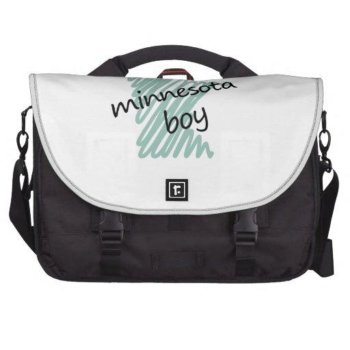 Minnesota Boy on Child's Minnesota Map Drawing Commuter Bag