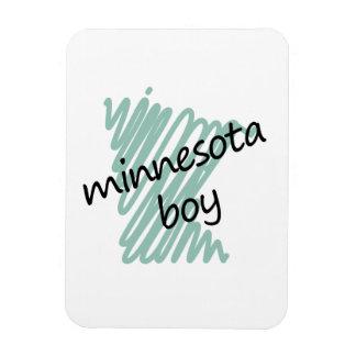 Minnesota Boy on Child's Minnesota Map Drawing Magnet
