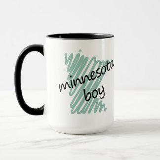Minnesota Boy on Child's Minnesota Map Drawing Mug