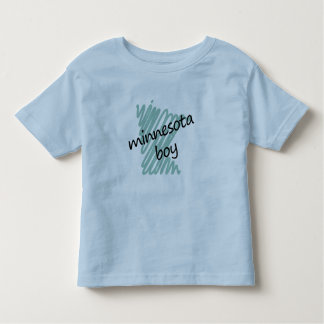 Minnesota Boy on Child's Minnesota Map Drawing Toddler T-shirt