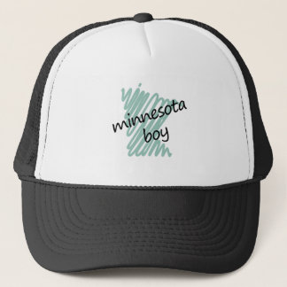 Minnesota Boy on s Minnesota Map Drawing Trucker Hat