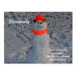 "Minnesota ""Build a Snowman"" Post Card"
