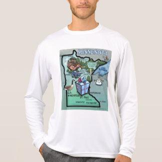 Minnesota Cartoon Map T-Shirt