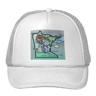Minnesota Cartoon Map Trucker Hat