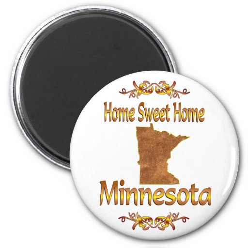 Minnesota casero dulce casero imán redondo 5 cm