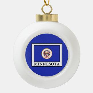 Minnesota Ceramic Ball Christmas Ornament