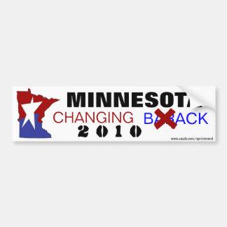 Minnesota Changing Back 2010 Bumper Sticker