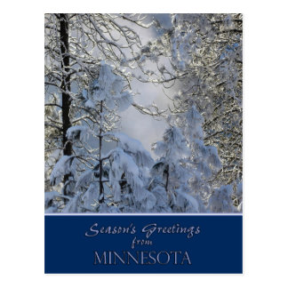 Minnesota Christmas Card/state specific post cards