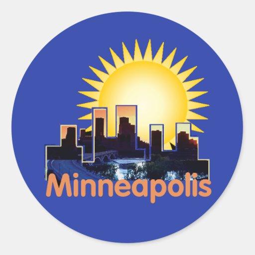 Minnesota Classic Round Sticker