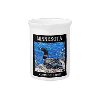 Minnesota Common Loon Beverage Pitchers