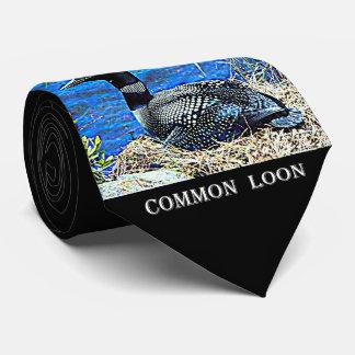Minnesota Common Loon Tie