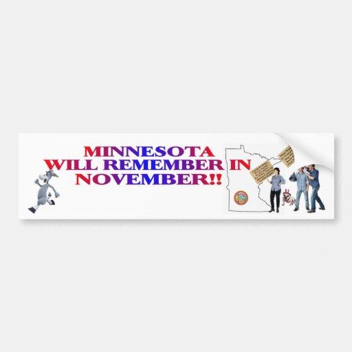¡Minnesota - congreso de vuelta a la gente!! Etiqueta De Parachoque
