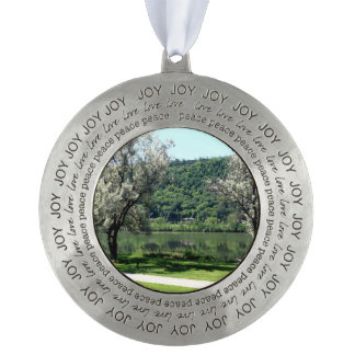 Minnesota Country Round Pewter Ornament