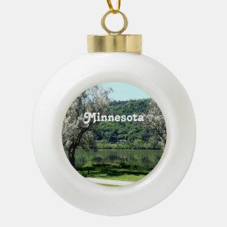 Minnesota Country Ceramic Ball Ornament