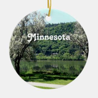 Minnesota Country Round Ceramic Ornament