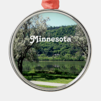 Minnesota Country Silver-Colored Round Ornament