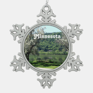 Minnesota Country Pewter Snowflake Ornament