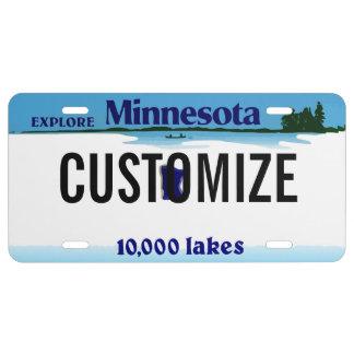 Minnesota Custom License Plate