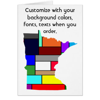 Minnesota Customize colorful card how you want