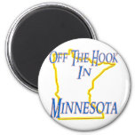 Minnesota - del gancho imanes de nevera