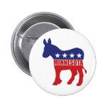 Minnesota Democrat Donkey Button