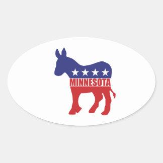 Minnesota Democrat Donkey Oval Sticker