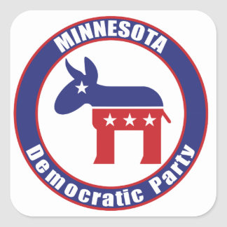 Minnesota Democratic Party Square Sticker