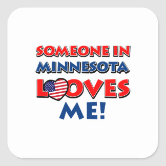 MINNESOTA designs Square Sticker