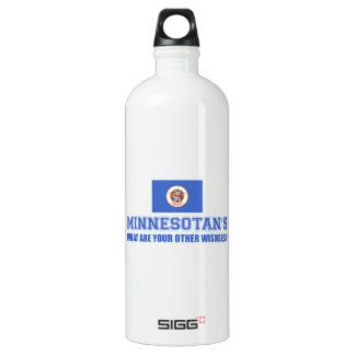 Minnesota desin aluminum water bottle