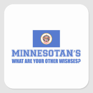 Minnesota desin square sticker