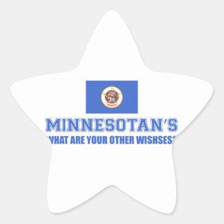 Minnesota desin star sticker