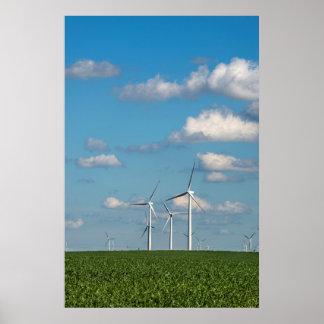 Minnesota, Dexter, Grand Meadow Wind Farm 2 Poster