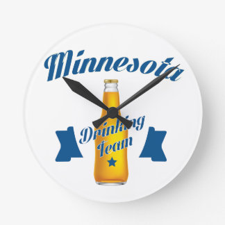 Minnesota Drinking team Round Clock