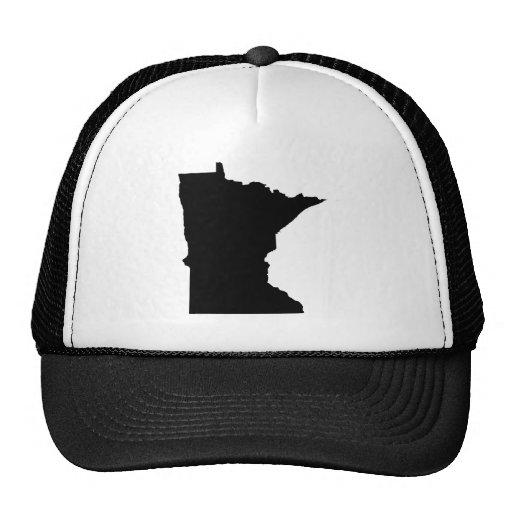 Minnesota en blanco y negro gorros bordados