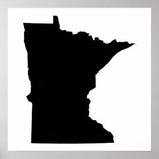 Minnesota en blanco y negro posters