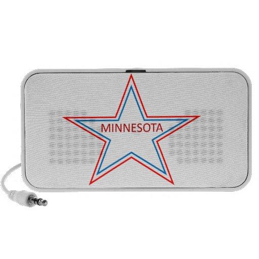Minnesota en una estrella portátil altavoces