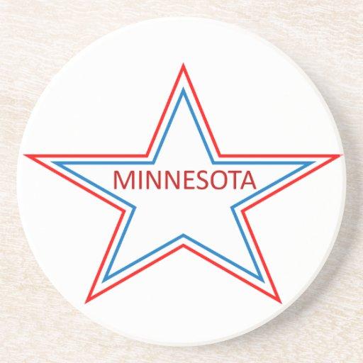 Minnesota en una estrella posavasos diseño