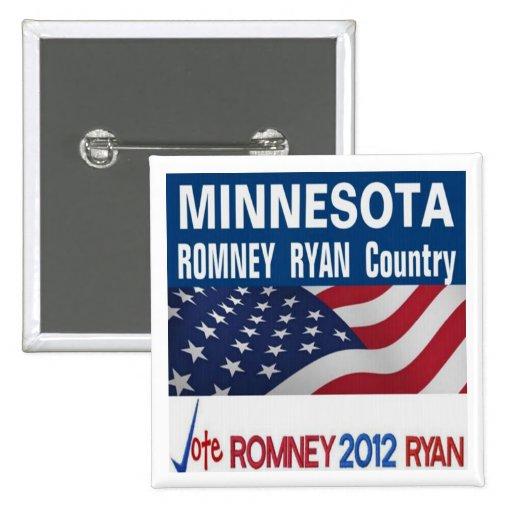 MINNESOTA es botón del país de Romney Ryan Pin