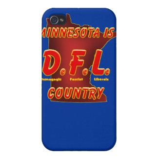 Minnesota es D.F.L. Country iPhone 4/4S Carcasa