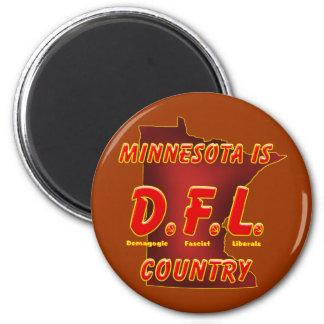 Minnesota es D.F.L. Country Imán Redondo 5 Cm