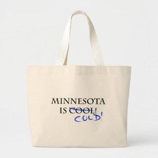 ¡Minnesota es fresco - y frío! Bolsa Tela Grande