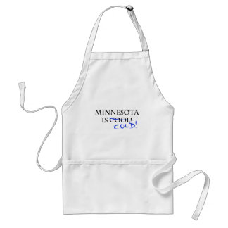 ¡Minnesota es fresco - y frío! Delantal