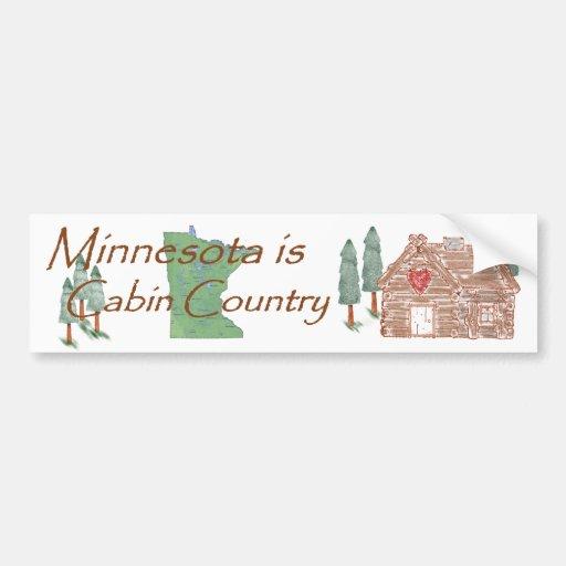 Minnesota es país de la cabina pegatina de parachoque