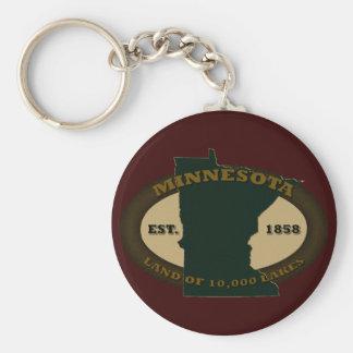 Minnesota Est. 1858 Llavero Redondo Tipo Pin