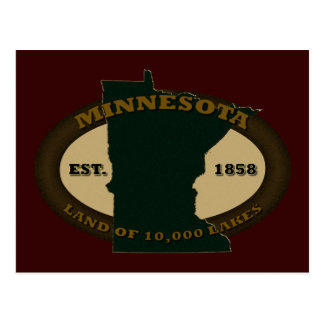 Minnesota Est. 1858 Postcard
