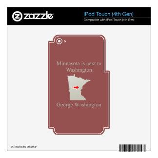 Minnesota está al lado de Washington Calcomanías Para iPod Touch 4G