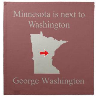 Minnesota está al lado de Washington Servilletas