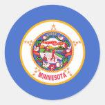 Minnesota, Estados Unidos señala por medio de una Pegatina Redonda