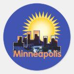 Minnesota Etiquetas Redondas