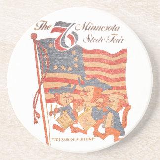 Minnesota Fair 1976 Sandstone Coaster
